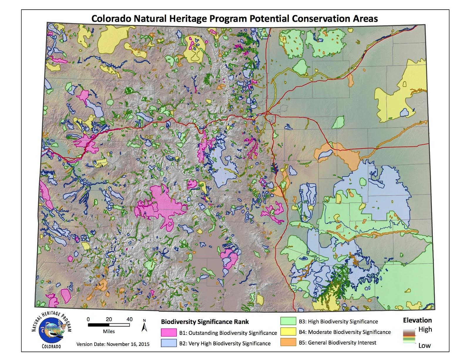 CNHP Blog - Map of colorado population density