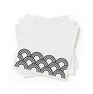 susty party napkins with stylish arches