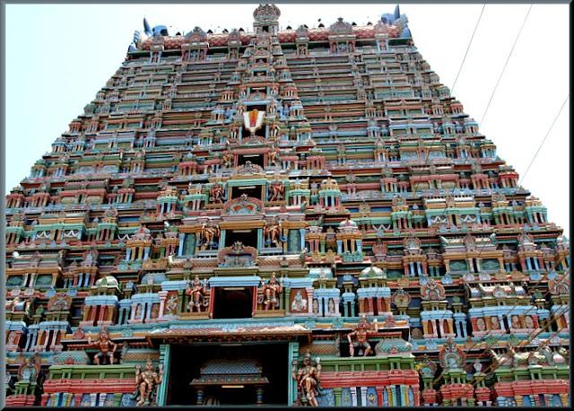 Tiruchirappalli Srirangam View of Sri Ranganathaswamy Temple