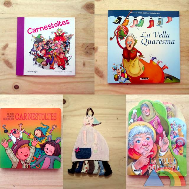 Portada de 2 cuentos de Caranaval, 2 cuentos de la Vieja Cuaresma y manualidad de la Vieja Cuaresma