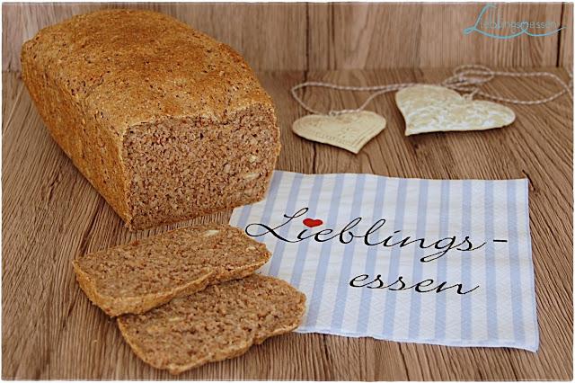 Haferflocken Brot mit Nüssen