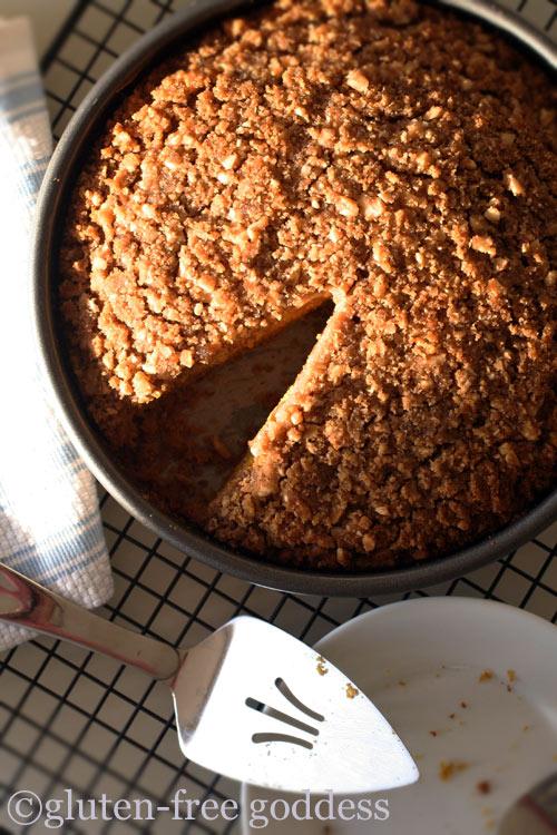 Gluten free pumpkin crumb cake