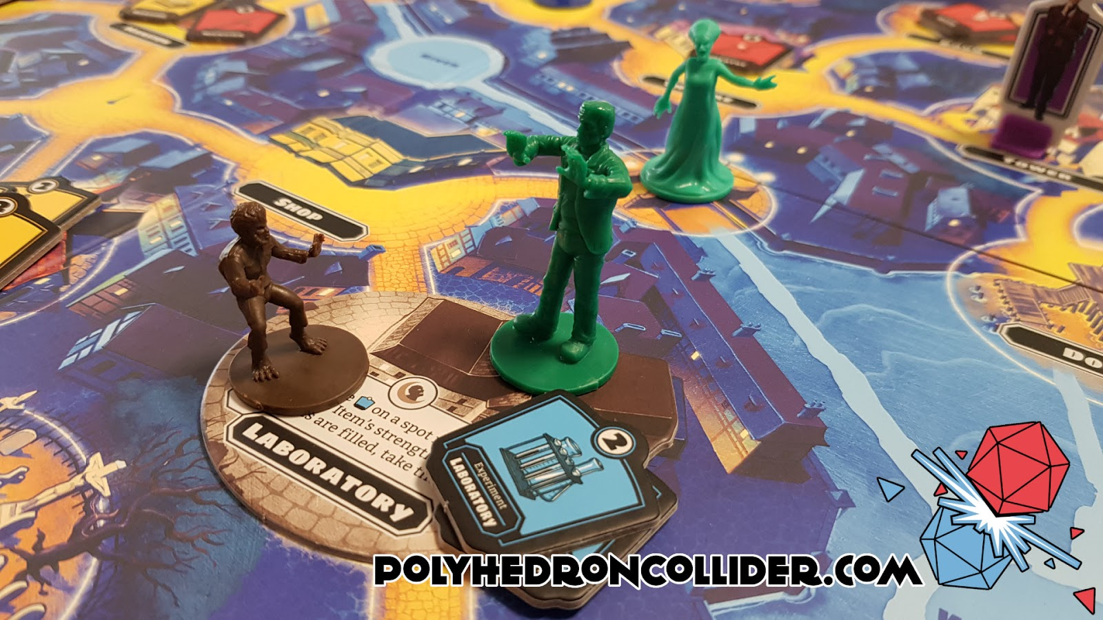 Polyhedron Collider Horrified Board Game Review - Rampaging Monsters