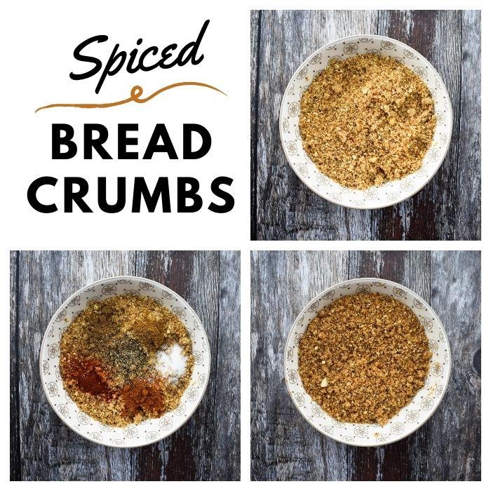 Baked Popcorn Tofu - Step 1- Breadcrumbs