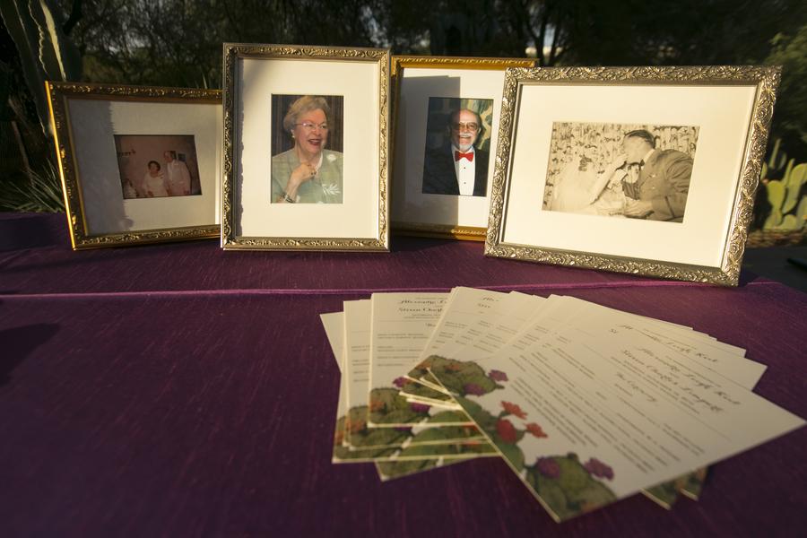 Purple Desert Botanical Garden Wedding