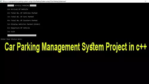 Car Parking Management System Project in c++