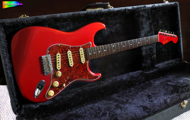 Candy Apple Red Fender Stratocaster with matching headstock