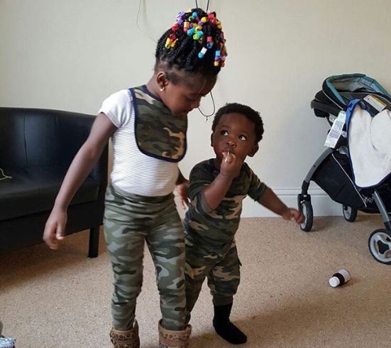Actress Mercy Johnson Shares Adorable Photo Of Her Children On Military Uniform