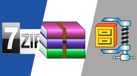 7zip vs WinRAR vs ZIP Comparación de los mejores programas para comprimir archivos