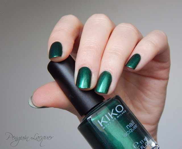 kiko nail lacquer 535 metallic british green