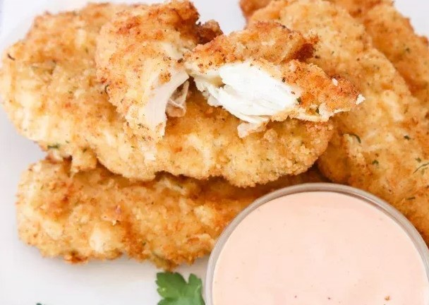 BEST CHICKEN STRIPS RECIPE #chickenrecipe #friedchicken