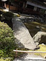 Single-stone bridge (closed) - Kyoto Gyoen National Garden, Japan