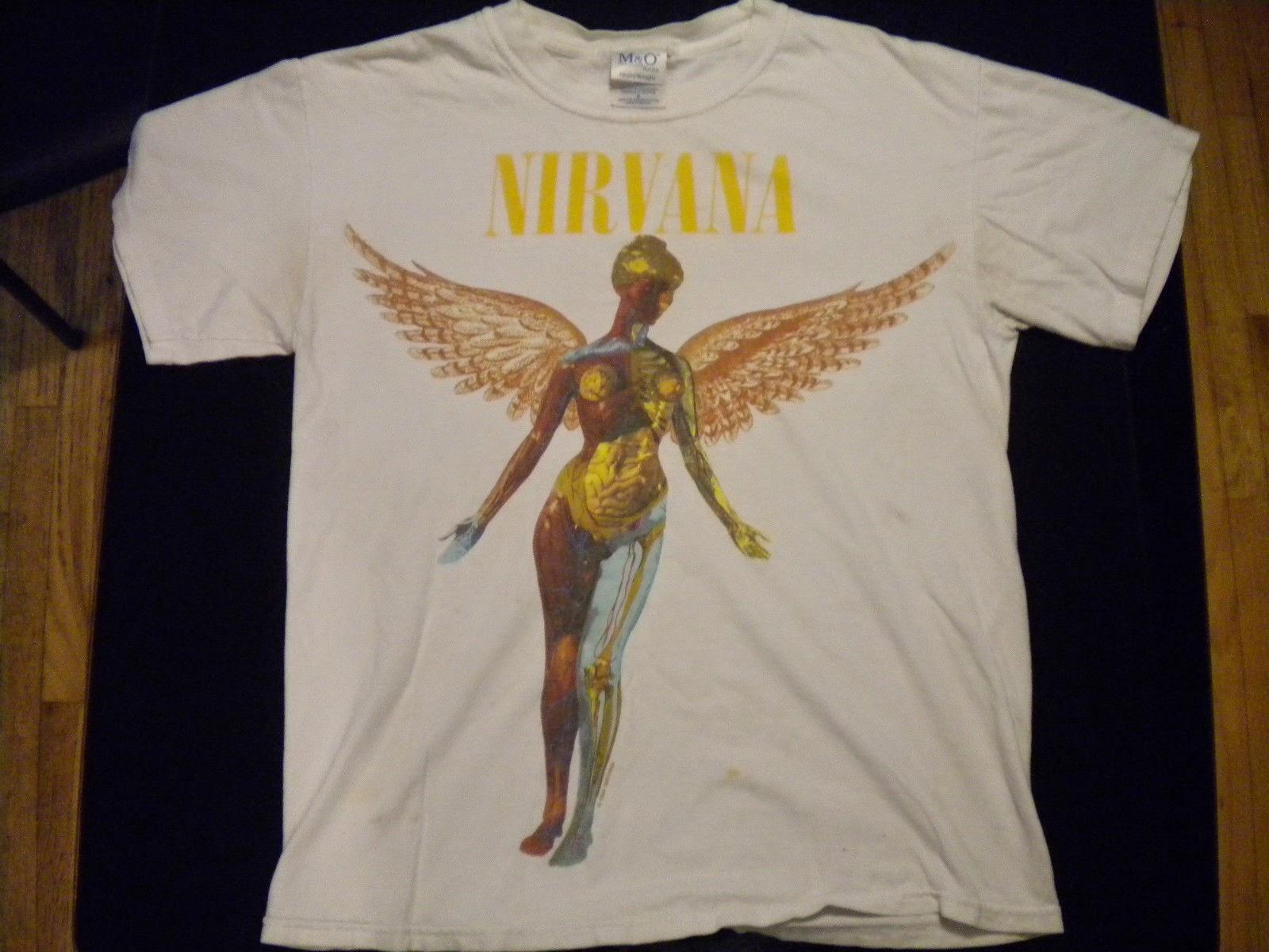 ace413fe NIRVANA IN UTERO T-SHIRT licensed 1993 M&O rare 90's | vintage t-shirt