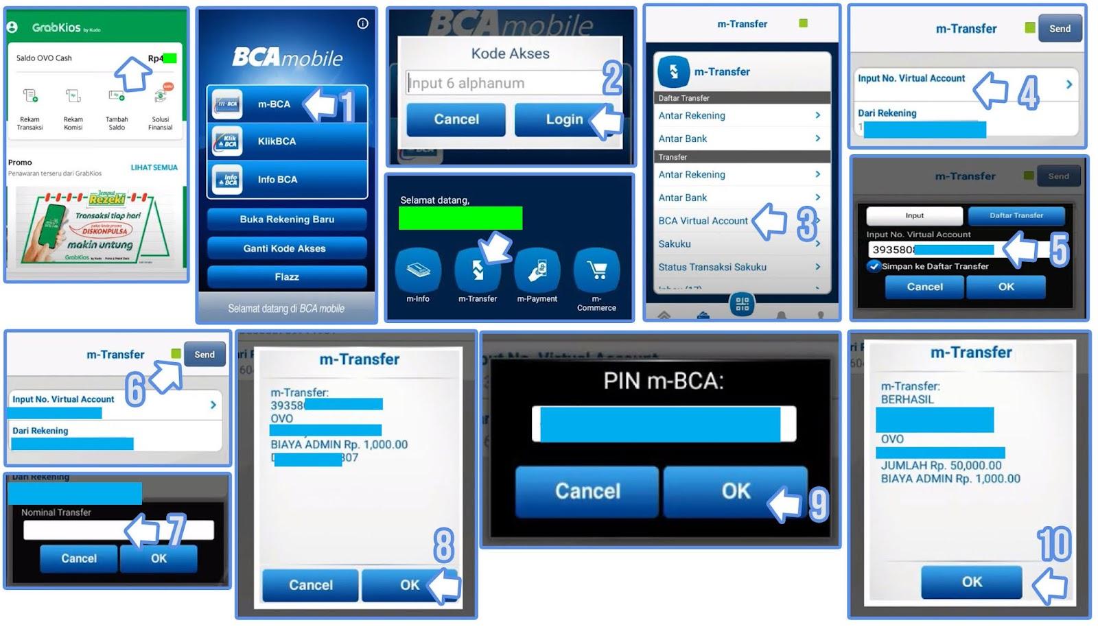 Cara Top Up Grab Driver Via m Banking BCA