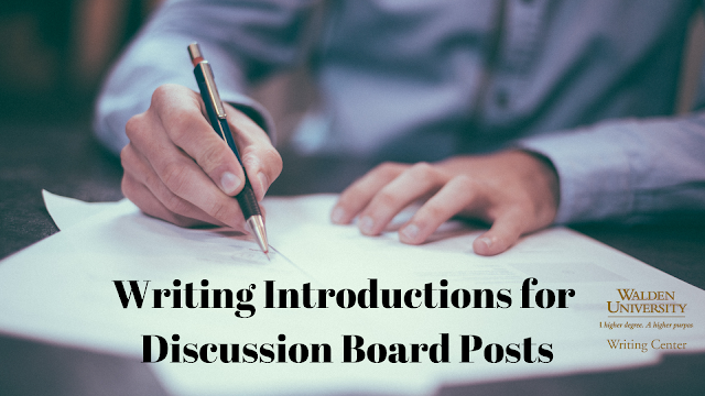 Writing Introductions for Discussion Board Posts
