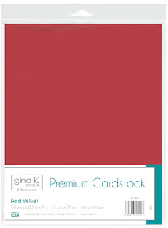 Gina K Designs RED VELVET Cardstock