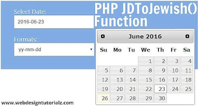 PHP jdtojewish() Function