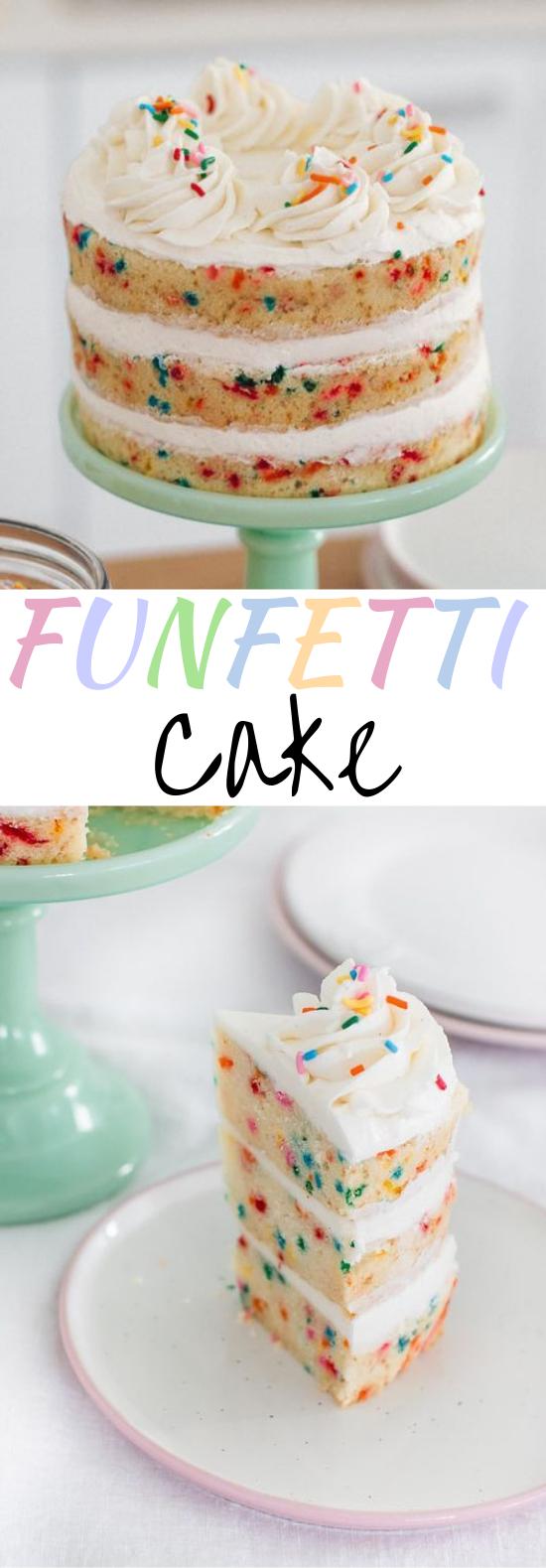 Funfetti Cake #cake #desserts