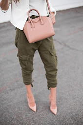 blush top hand bag