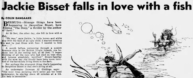 Jackie Bisset falls in love with a fish