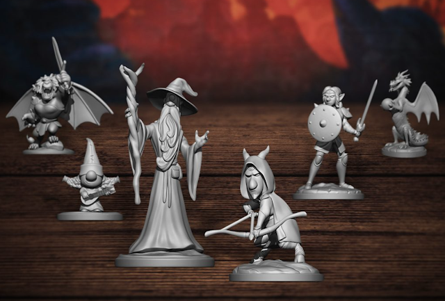 Quests of Yore Onward Game Pieces