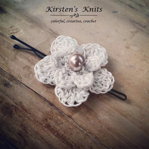 Pattern Delicate Flower Clip Kirsten Holloway Designs