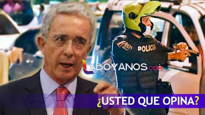 Uribe pide que soldados y policías usen sus armas para defenderse en las manifestaciones