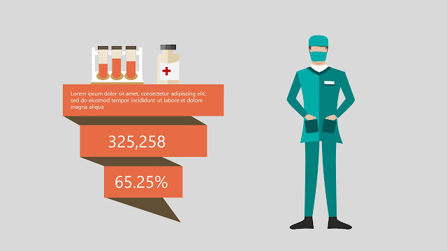 Free Infographic Powerpoint Templates used in Medical Presentation with medicament