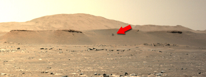 terceiro voo do helicóptero Ingenuity em Marte