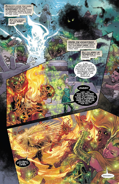 Ghost Rider fighting Amora the Enchantress