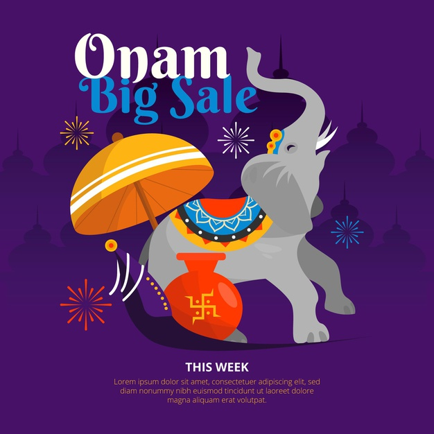 Flat onam big sales background