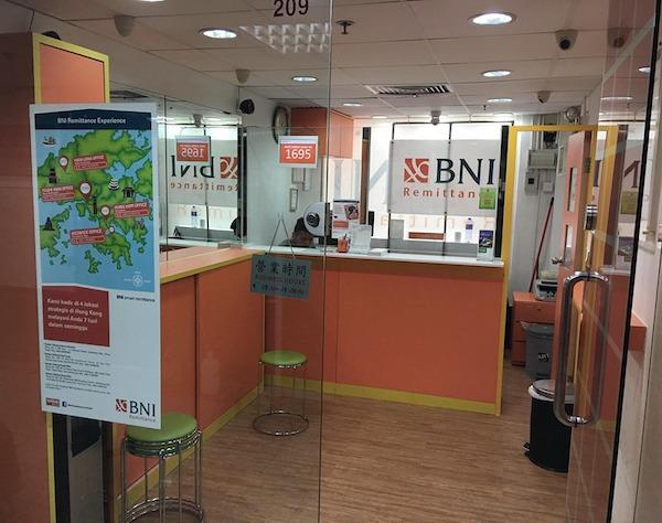Alamat Cabang Bank BNI dan BNI Remittance di Hong Kong