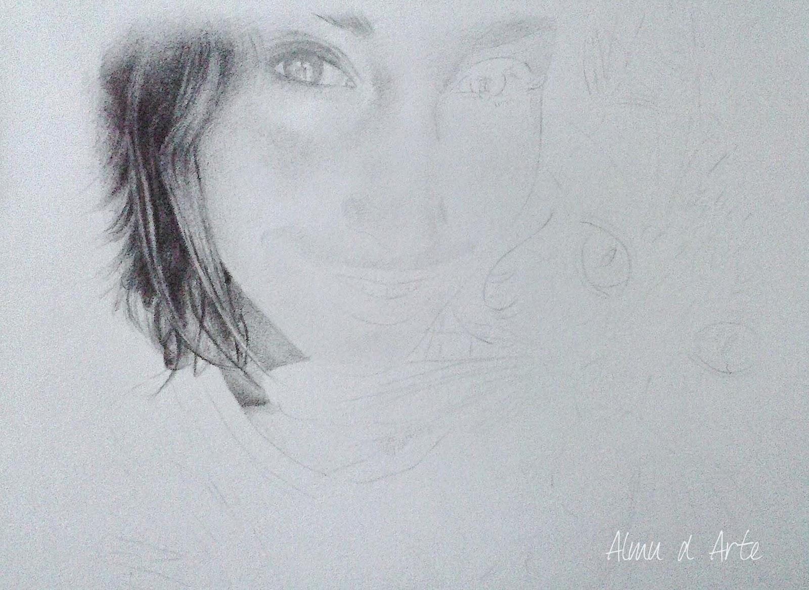 Empezar a dibujar un retrato a lápiz