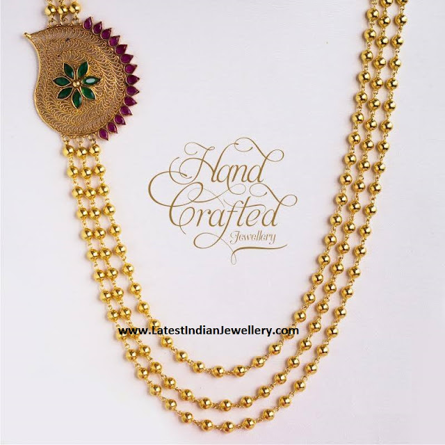 Stylish Gold Balls Mala