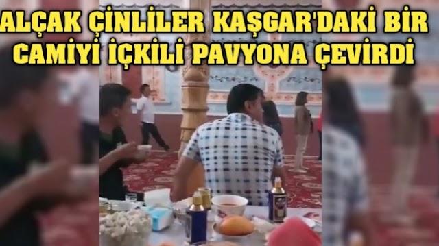 Alçak Çinliler Kaşgar'da bir camiyi içkili pavyona çevirdi