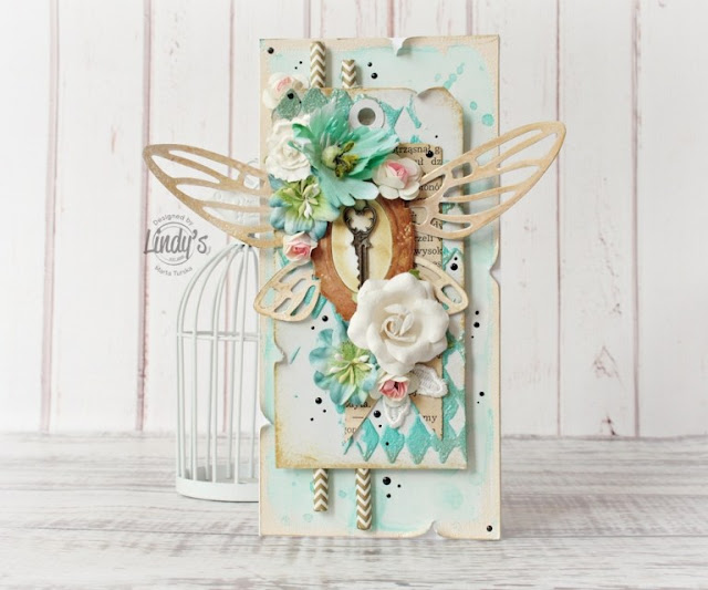 Make a card with embossed distressed elements