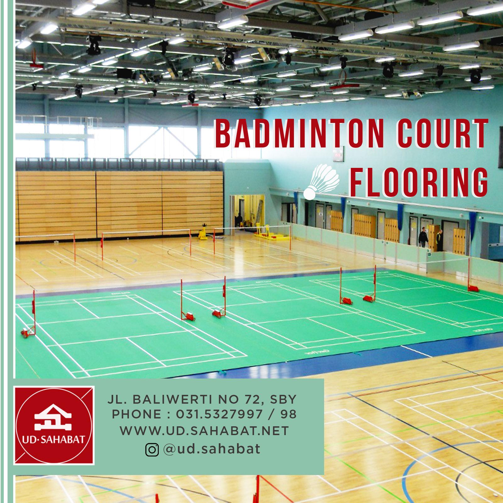 jual lapangan bulu tangkis badminton