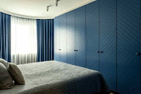 Blue wardrobe idea for bedroom
