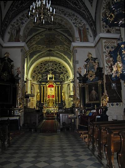 Szczyrzyc. Wnętrze kościoła Cystersów.