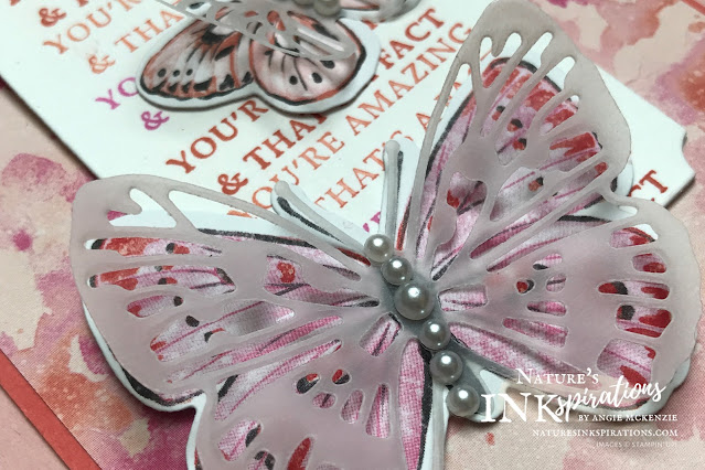 """By Angie McKenzie for Bruno and Kylie Bertucci's Demonstrator Training Program Butterfly Bouquet Blog Hop; Click READ or VISIT to go to my blog for details! Featuring the early release of the Brilliant  Wings Dies from the Stampin' Up! 2021-2022 Annual Catalog and Exclusive Butterfly Bijou 6"""" x 6"""" Designer Series Paper during the Butterfly Bouquet promotion along with the Fluttering Dies, Strong & Beautiful Stamp Set, and Happy Thoughts Stamp Set; #stampinup #handmadecards #naturesinkspirations #encouragementcards #lettheDSPdothework #cardtechniques #stampinupdemo #butterflybouquetpromotion #makingotherssmileonecreationatatime #strongandbeautifulstampset #happythoughtsstampset #brilliantwingsdies #flutteringdies #stationerybyangie #brunoandkyliesdemonstratortrainingprogrambloghop #stampingtechniques #loveitchopituseit #makingotherssmileonecreationatatime"""