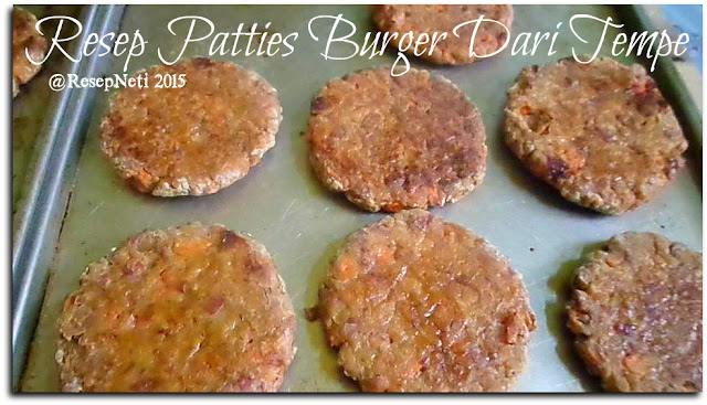 Resep patties tempe burger di dapur kusNeti 2015