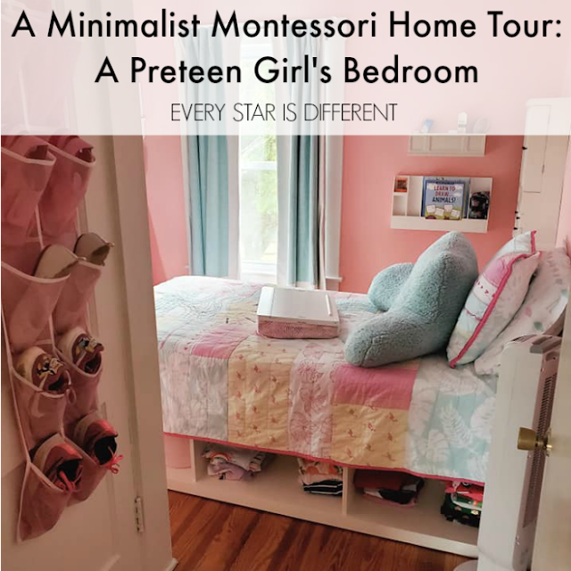 A Minimalist Montessori Home Tour: A Preteen Girl's Room