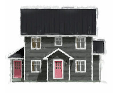 The House With The Pink Door Home Design