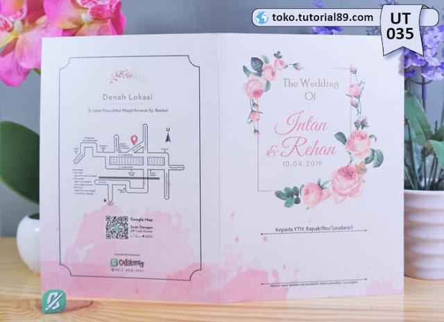 Undangan pernikahan UT028 - Seimpel Lipat 2 +free kartu ucapan terima kasih