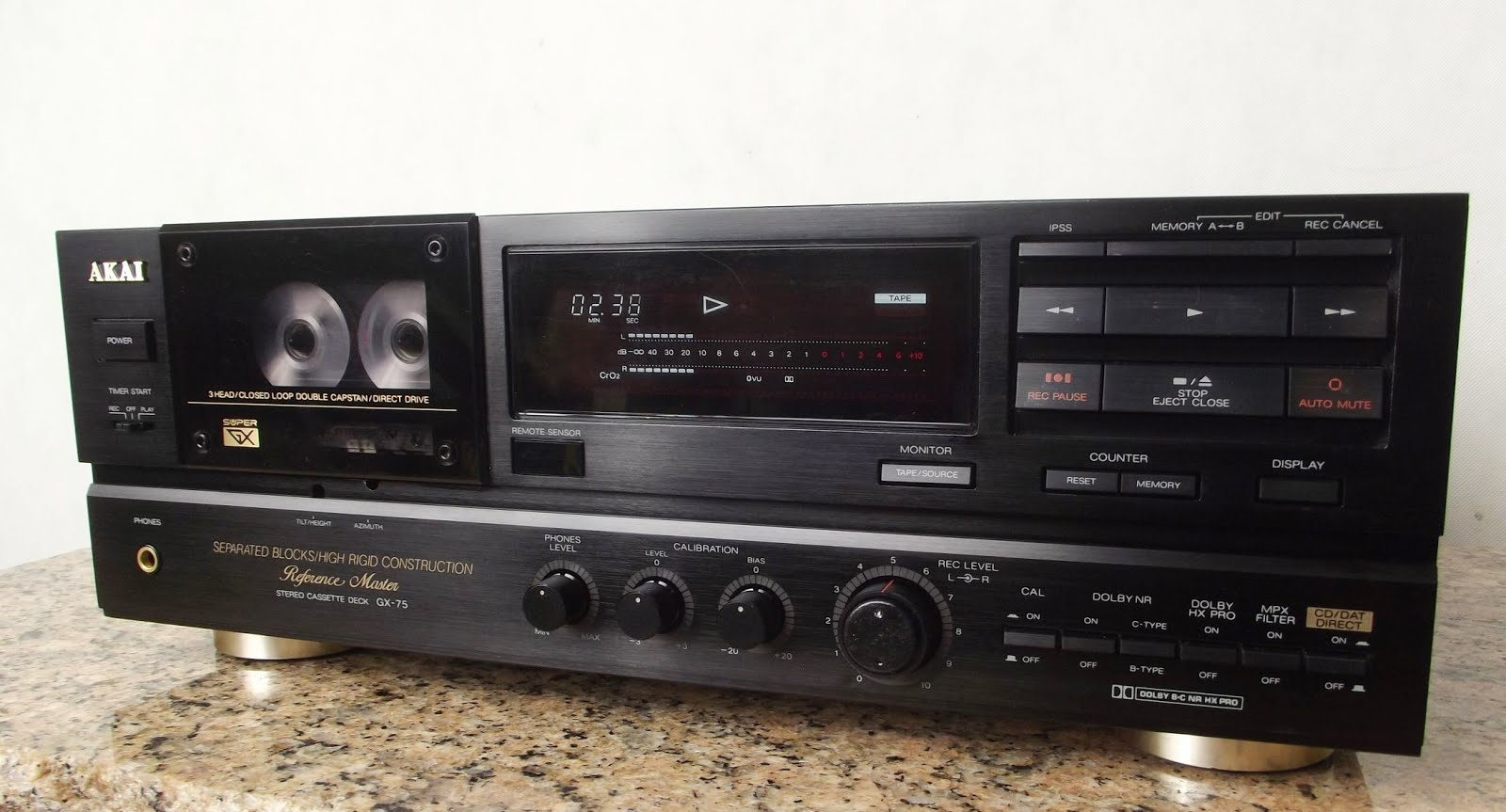 Akai Gx 75 Stereo Cassette Deck Audiobaza