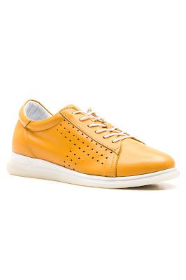 hakiki sarı deri bayan ayakkabı