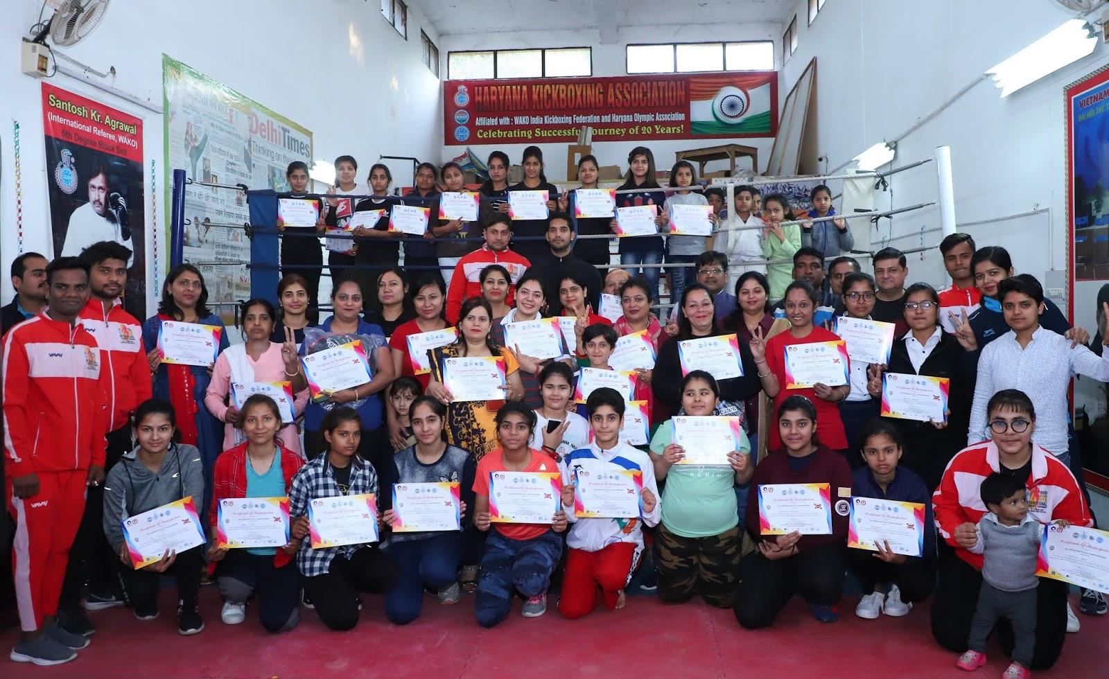 अंतर्राष्ट्रीय महिला दिवस पर किकबॉक्सिंग संघ द्वारा प्रशिक्षण केंद्र में मनाया गया