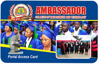 Ambassador College of Mgt. & Tech. Post-UTME Form 2020/2021