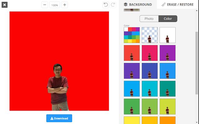 Mengganti Background Foto Menjadi Warna Merah