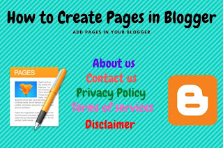 How to Create Pages in Blogger : Add Static Pages to Your Blog